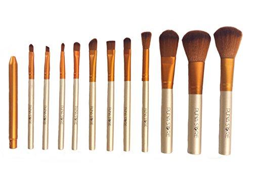 Puna Store Makeup Brush Set with Storage Box 12 Pieces