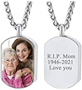 FindChic Personalized Urn Necklaces for Ashes Dainty Vertical Bar/Moon Cat/Sand Clock/Heart Penda...