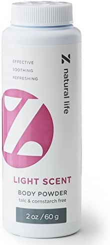 Z Natural Life Body Powder - Light Scent - 2 oz/60 g (Talc Free & Cornstarch Free)