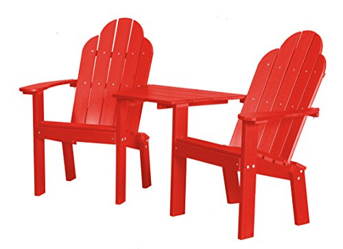 Little Cottage Company LCC-229 Classic Tete-A-Tete Deck Chair, Bright Red (Tete Classic A-tete)