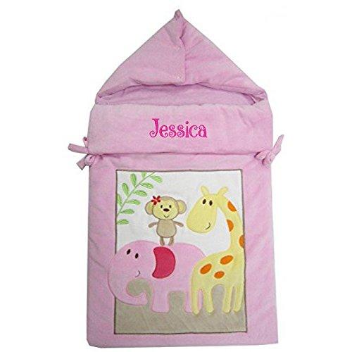 Bebé Personalizado ANIMAL Saco de dormir 0 - 3 meses azul Pink Animal Talla:3 meses: Amazon.es: Bebé