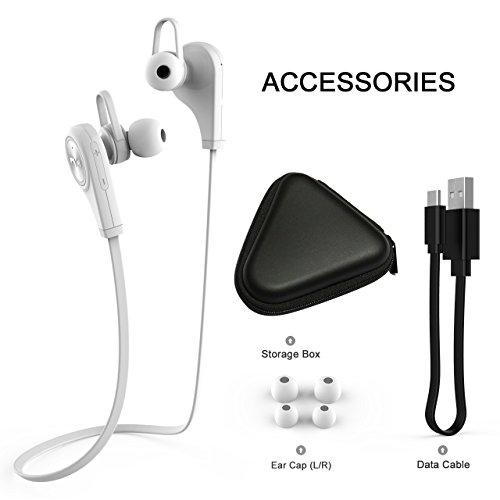 2016 Sport Wireless Bluetooth 4.1 Headphone Earphone Headset(White) - 6