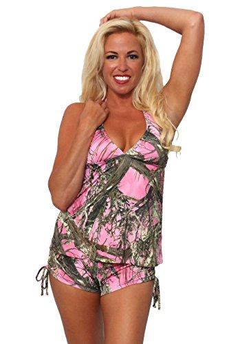 Women's Pink Authentic True Timber Tankini/Shorts Swimwear: T (L) B (L)