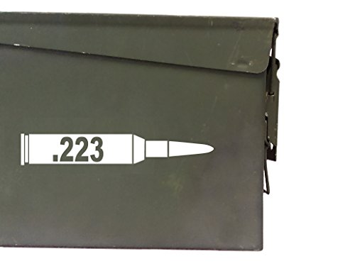 FGD .223 ammo box Label Set (bullet DECALS) Four decals included (Labels Only Ammo Can NOT Included)