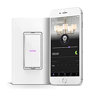iDevices IDEV0009 Wi-Fi Smart Dimmer Switch, Works with Alexa, White
