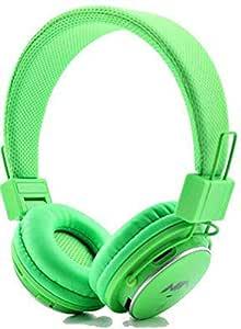 Wireless Headphone Headset FM Radio MP3 Music Player For PC Laptop Smartphones Green