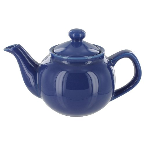English Tea Store 2 Cup Teapot Blue Gloss Finish