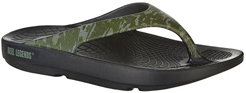 Reel Legends Mens Cortez Infradito Nero / Verde Multi