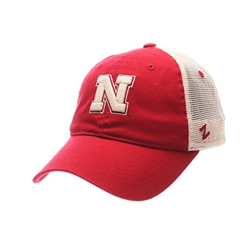 Ncaa Nebraska University (Zephyr NCAA Nebraska Cornhuskers Adult Men University Relaxed Cap, Adjustable, Team Color/Stone)