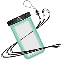 YOSH® Waterproof Case Universal Snow Proof Pouch Dry Bag for Apple iPhone 6 plus, 6s plus, 5s, Samsung Galaxy S7 Edge, S6 Edge, S5, S4, Note 4 for Cellphone up to 6 inches (Green)