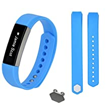 For Fitbit Alta,Haoricu Large Size Replacement Wristband Band Strap + Buckle (Sky Blue)