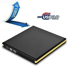 External DVD Drive, TUPELO Electronic USB 3.0 Slim Portable External DVD CD Rom Drive with M-DISC Surpport, DVD RW, CD RW, External DVD Burner Device for Windows 10 & Apple Macbook Pro Air iMAC