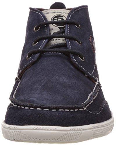 Id Mens Lederen Sneakers Blauw