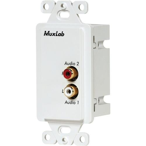 Muxlab Stereo Hi-Fi Wall Balun with Color coded RCA Female Sockets, United States ()