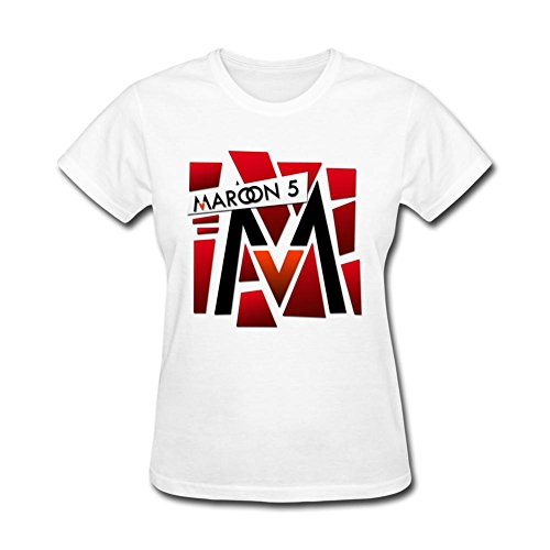 OPEND Women's The Band Maroon 5 T-shirt White L