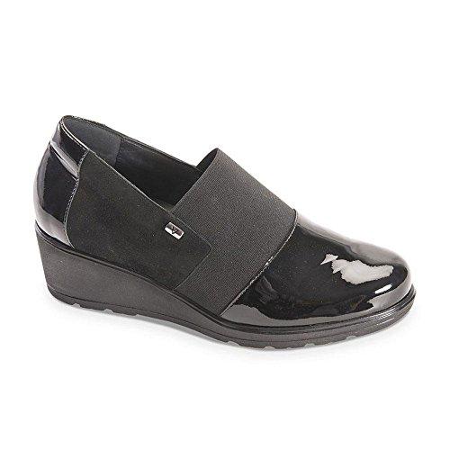 Nera Sneaker Vernice Valleverde Donna In 4Yp01q