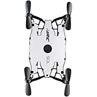 Fineser JJRC H49 WiFi FPV Selfie Drone With 720P HD Camera 6-Axis gyro 2.4 GHz with Altitude hold, One Key Return and Headless Mode, Auto Foldable Arm RC Quadcopter (White)