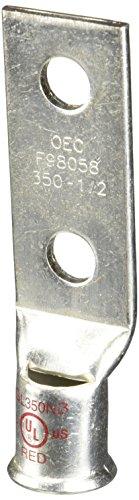 (2 Hole Short Barrel Copper Compression Lug for Flexible Copper Cable 350 MCM- 1/2
