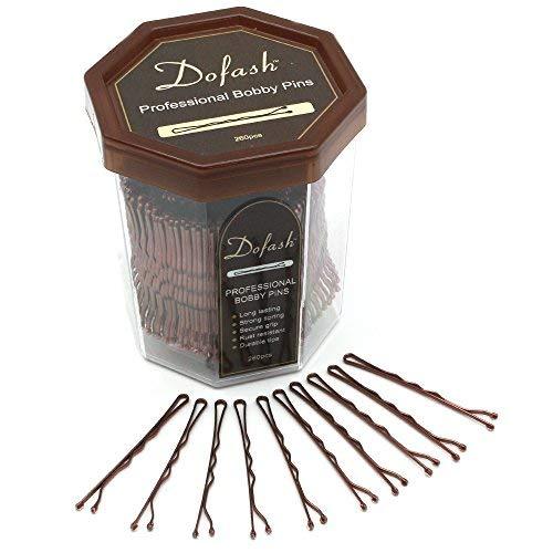 Dofash 260pcs 5CM/2in Bobby pins bulk strong hair clips for Hair Salon (Brown) by Dofash