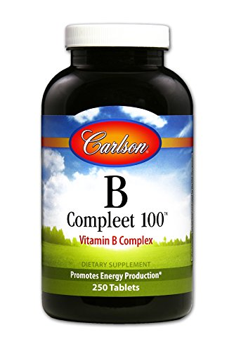 Carlson B-Compleet 100, High Potency B Complex, 250 Tablets by Carlson