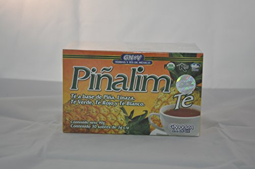 (Pinalim Tea/Te de Pinalim Mexican Version- Pineapple, Flax, Green Tea, & White Tea - 30 Day Supply)