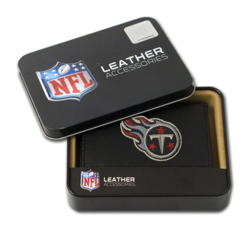 NFL Tennessee Titans Embroidered Genuine Cowhide Leather Trifold Wallet