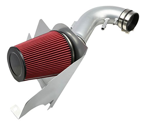 DNAMotoring AIP-2-HS-FM11V8-SLSL Cold Air Intake System and Heat Shield