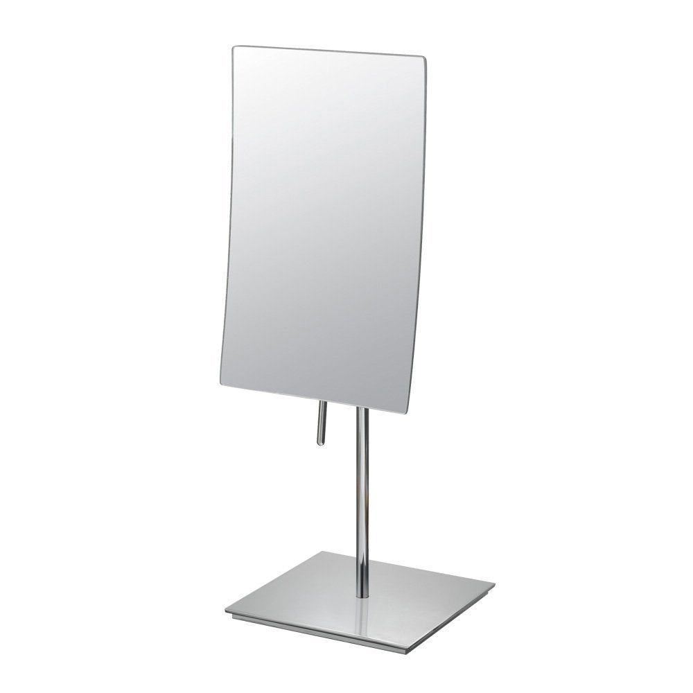 DOWRY Rectangular Vanity Mirror with 3X Magnification,Made of 304 stainless steel, Polished Chrome 2234