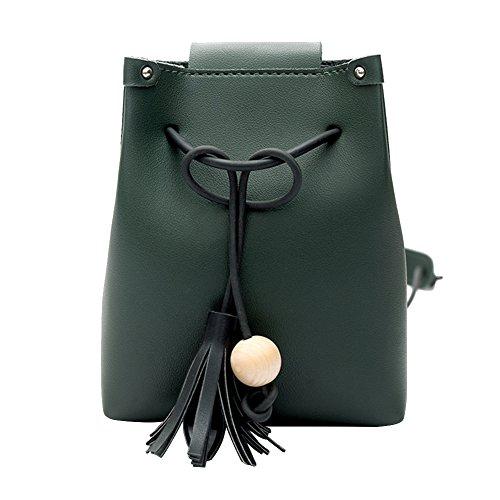 Domybest 78827 - Bolso al hombro de Piel para mujer Taille unique Verde