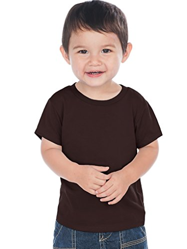 Kavio! Unisex Infants Crew Neck Short Sleeve Tee (Same IJC0432) Coffee 24M -