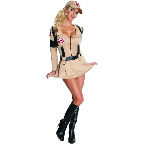 [Rubie's Ghostbusters Secret Wishes Sexy Costume,Tan,Medium] (Ghostbusters Womens Costume)