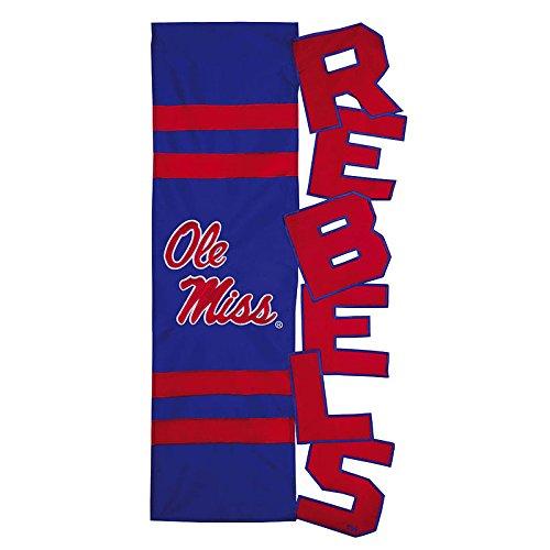 28'x44' Applique Banner Flag - NCAA Mississippi Rebels 28'' x 44'' Royal Blue Cut-Out Applique Vertical Banner Flag