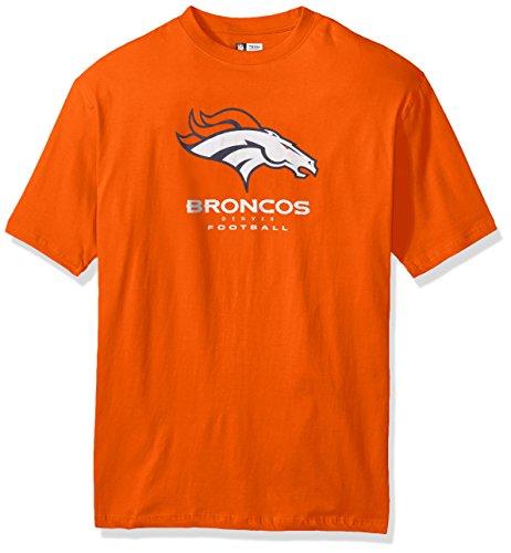NFL Denver Broncos Men S/S TEAM COLOR TEE, ORANGE, 4X
