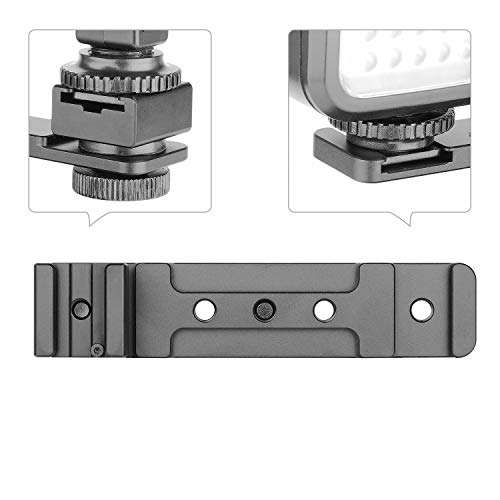 ChromLives Hot Shoe Extension Bar Mount Cold Shoe Extension Flash Bracket Dual Straight Mount Flash Bracket fits Nikon Canon Sony Olympus DSLR Camera Camcorder DV