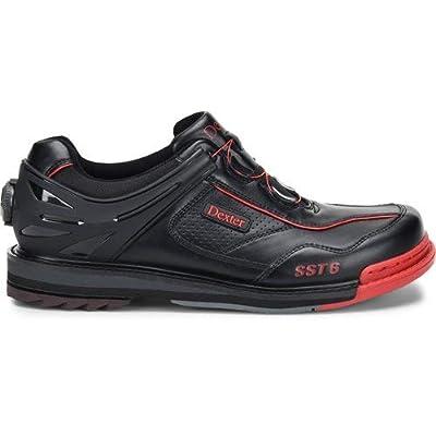 Dexter Mens SST 6 Hybrid BOA Black/Red Wide Width Bowling Shoes | Bowling