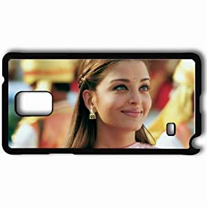 Personalized Samsung Note 4 Cell phone Case/Cover Skin Aishwarya Rai Actress Squaw Girl Star Black