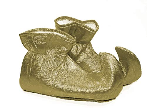 Forum Novelties Women's Deluxe Costume Cloth Elf Shoes, Gold, One Size