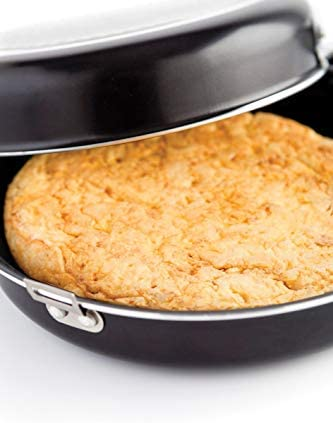 MGE - Double Poêle à Omelette avec Revêtement Antiadhésif - Poêle à Tortilla - Ø 24 cm - Noir
