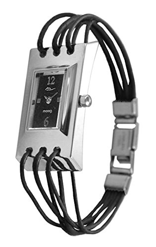 Moog Paris - Filament - Women's Watch with black dial, black strap in Genuine calf leather, made in France - M41452-002