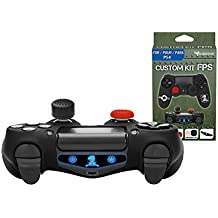 Subsonic SA5447 Silicone Cover Skin Anti-Slip for Playstation 4 Controller - Flexible Protective Case with 2 Joystick Thumb Stick Caps and 1 Precision Cap for PS4/PS4 Slim/PS4 Pro, Camo, FPS