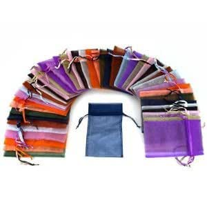 108 pcs drawstring Organza Jewelry Pouch Bags