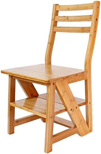 HOMRanger Escalera Plegable Bambú Multifunción Uso Dual Antiséptico de carbonización Sin Rebabas Necesidad Duradera de instalación, 2 Colores de Doble Uso (Color: A, Tamaño: 43x59x85cm): Amazon.es: Hogar