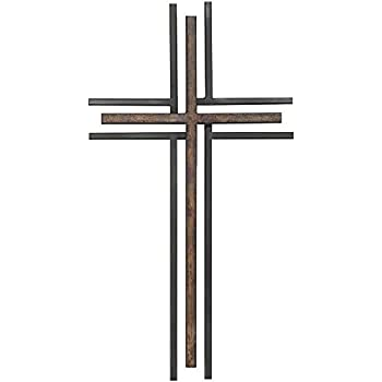 Amazon.com: Decorative Wall Cross with Heart, Cast Iron Metal, 13 ...