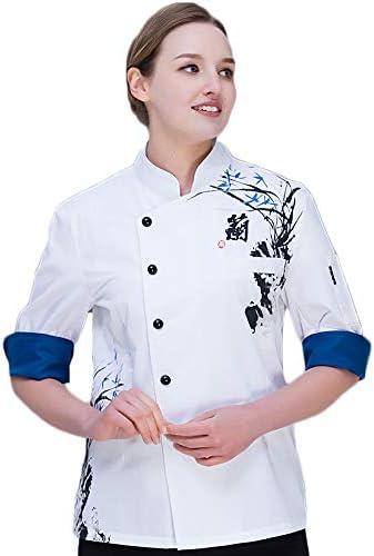 WYCDA Camisa de Cocinero Cocina Uniforme Manga Corta Transpirable Duradero Disfraz de Chef Protección del Medio Ambiente Sin Desvanecimiento,Orchidshortsleeve,XXL: Amazon.es: Hogar