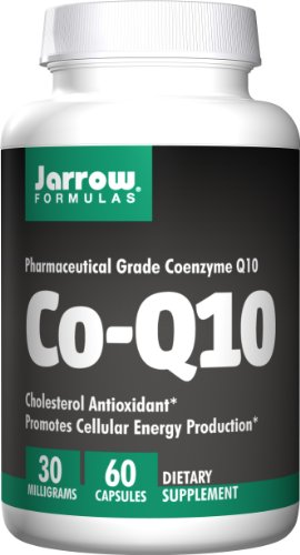 Jarrow Formulas CoQ10, Supports Cellular Energy and Cholesterol, 30 mg, 60 Capsules (Energy Support Formula)