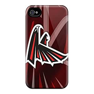 Top Quality Case Cover For Iphone 4/4s Case With Nice Atlanta Falcons Hd Appearance