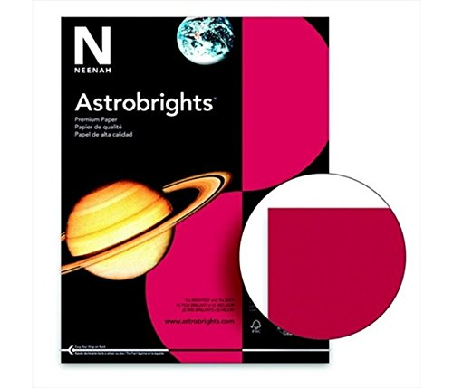 Astrobrights 075836 Acid-Free Copy Paper44; Re-Entry Red by Astrobrights (Image #1)