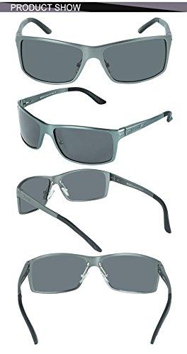 de Nouvelles soleil Lunettes 9018 style Gunmetal Lunettes pilote Duco vue polarisées de 1HTwZxa