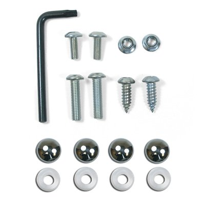 auto-license-plate-and-license-frame-chrome-lock-screw-hardware-kit