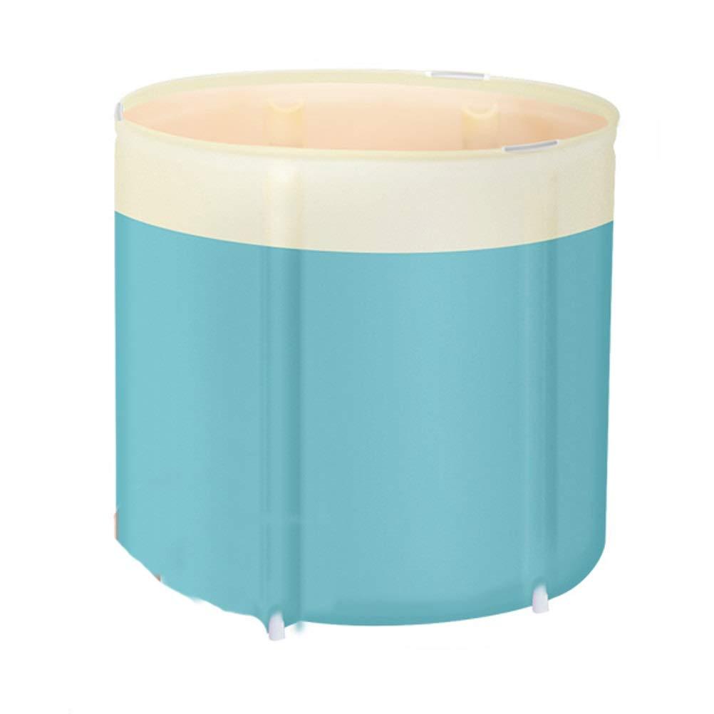 Cyan Free Inflatable Bathtub Folding Bathtub Thicken Household Body Adults Bathtub Plastic Portable Bathtub Standing Soaking Shower Basin Spa Tub (color   Cyan)